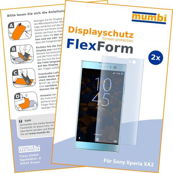 Displayschutzfolie 2 Stck. FlexForm für Sony Xperia XA2