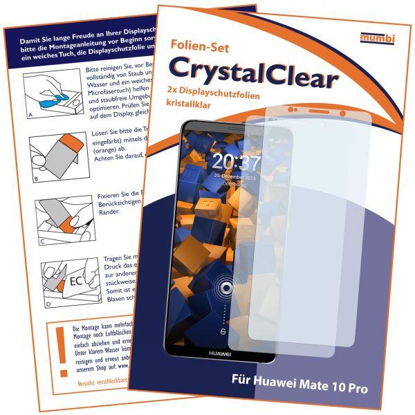 Displayschutzfolie 2 Stck. CrystalClear für Huawei Mate 10 Pro