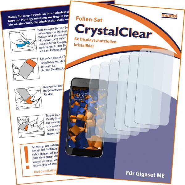 Displayschutzfolie 6 Stck. CrystalClear für Siemens Gigaset ME