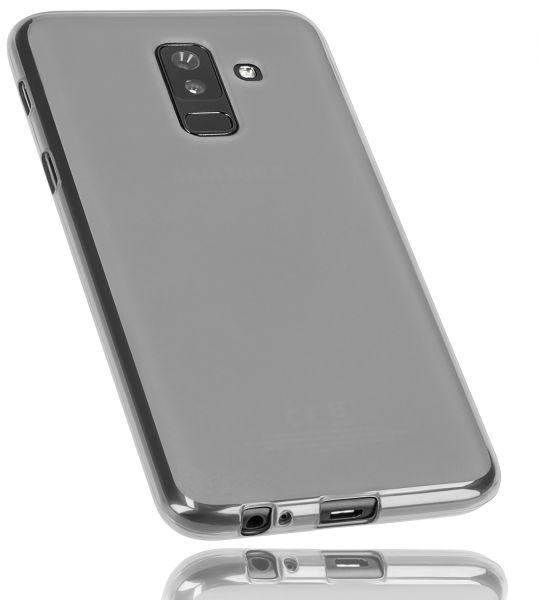 TPU Hülle schwarz transparent für Samsung Galaxy A6 Plus