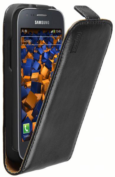 Flip Case Lederasche schwarz für Samsung Galaxy Ace 3