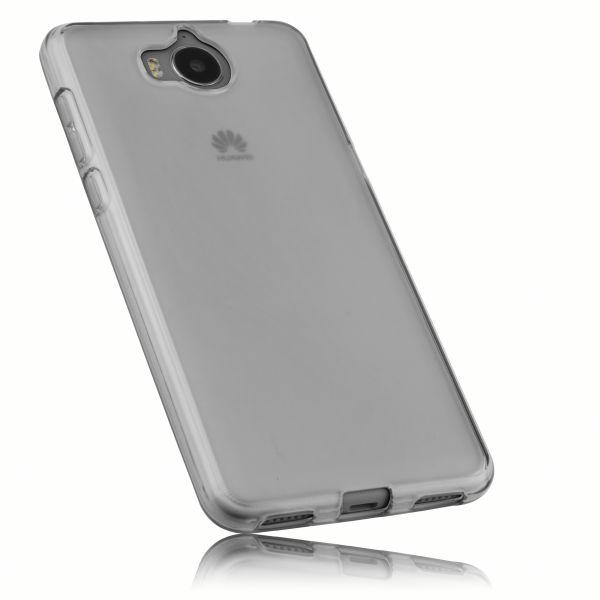 TPU Hülle schwarz transparent für Huawei Y6 (2017)