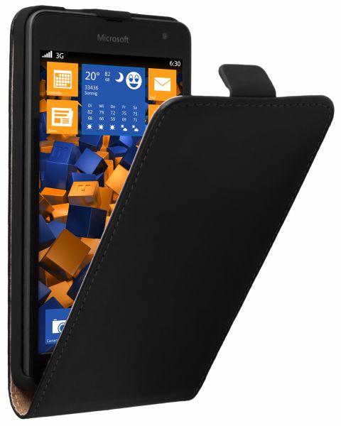 Flip Case Tasche schwarz für Microsoft Lumia 535