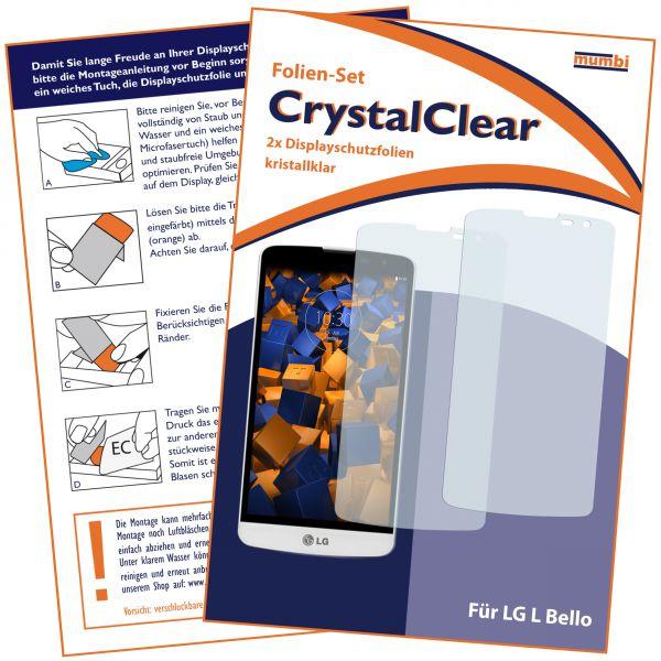 Displayschutzfolie 2 Stck. CrystalClear für LG L Bello