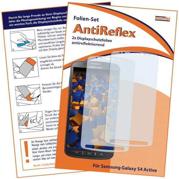 Displayschutzfolie 2 Stck. AntiReflex für Samsung Galaxy S4 Active