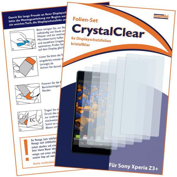 Displayschutzfolie 6 Stck. CrystalClear für Sony Xperia Z3 Plus