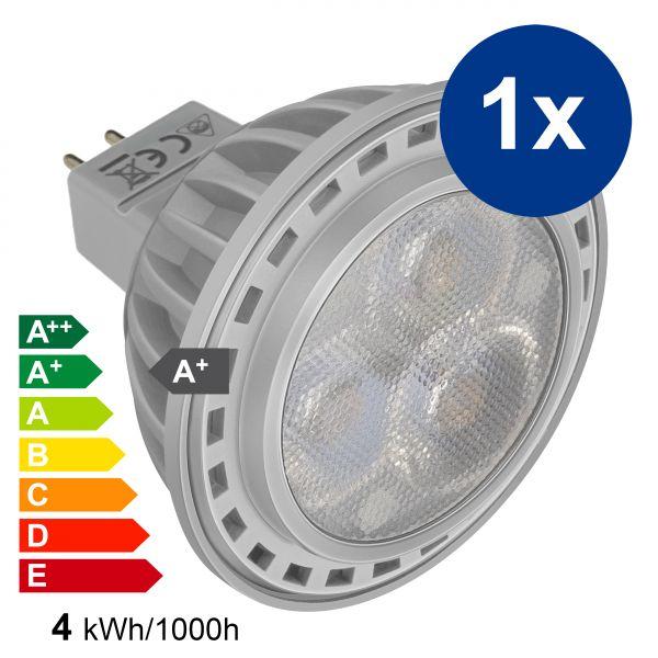 XQLite LED Lampe GU5,3 MR16 4W 3000 Kelvin warmweiß 210 Lumen Energieklasse A+