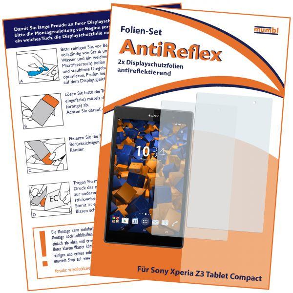 Displayschutzfolie 2 Stck. AntiReflex für Sony Xperia Z3 Tablet Compact (8 Zoll)