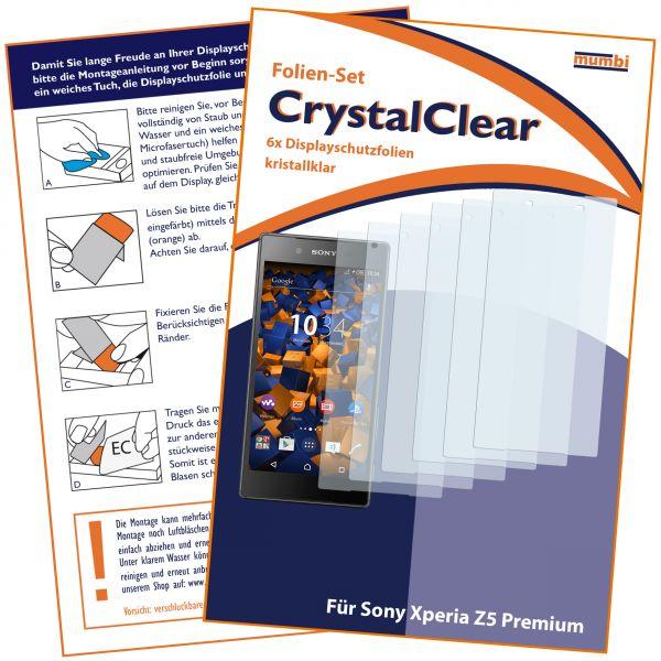 Displayschutzfolie 6 Stck. CrystalClear für Sony Xperia Z5 Premium