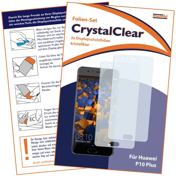 Displayschutzfolie 2 Stck. CrystalClear für Huawei P10 Plus