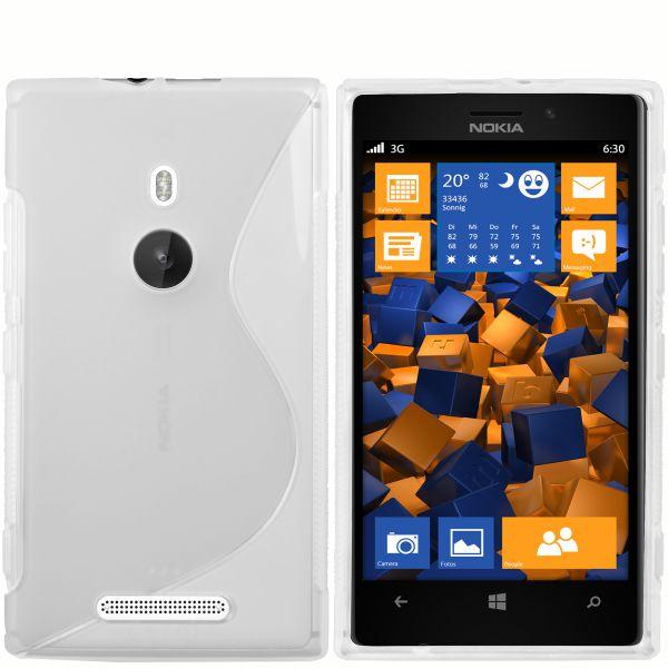TPU Hülle S-Design transparent weiß für Nokia Lumia 925