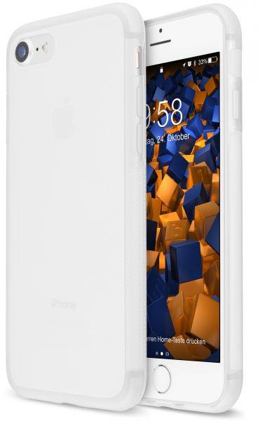 TPU Hülle double GRIP weiß transparent für Apple iPhone 8 / 7