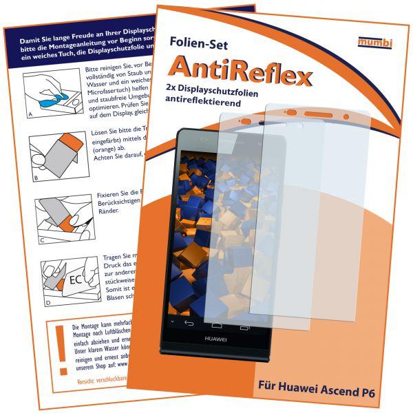 Displayschutzfolie 2 Stck. AntiReflex für Huawei Ascend P6