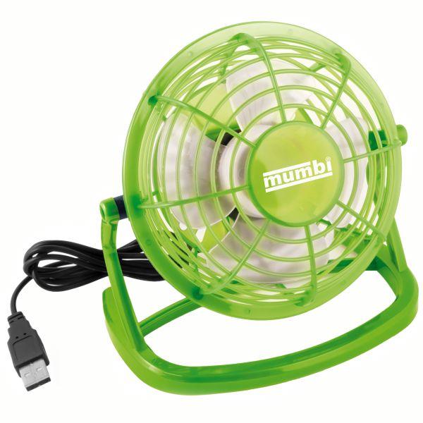 USB Ventilator mit An/Aus Schalter grün