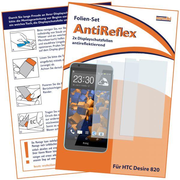 Displayschutzfolie 2 Stck. AntiReflex für HTC Desire 820
