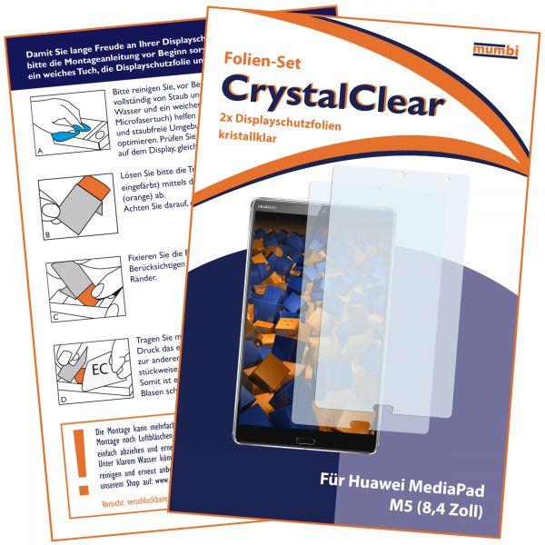Displayschutzfolie 2 Stck. CrystalClear für Huawei MediaPad M5 (8,4 Zoll)
