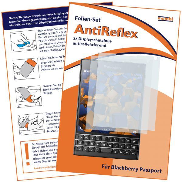 Displayschutzfolie 2 Stck. AntiReflex für Blackberry Passport