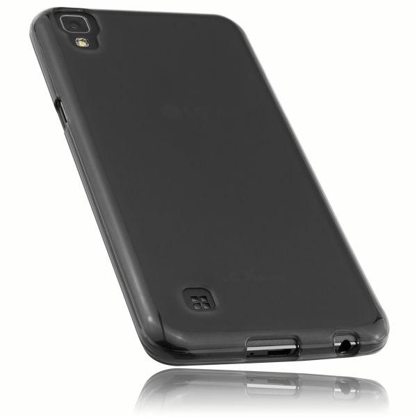 TPU Hülle schwarz transparent für LG X Power