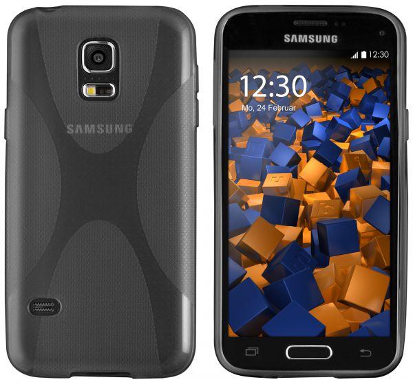 TPU Hülle X-Design transparent schwarz für Samsung Galaxy S5 Mini