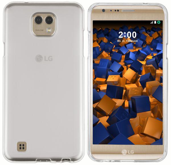 TPU Hülle weiß transparent für LG X Cam
