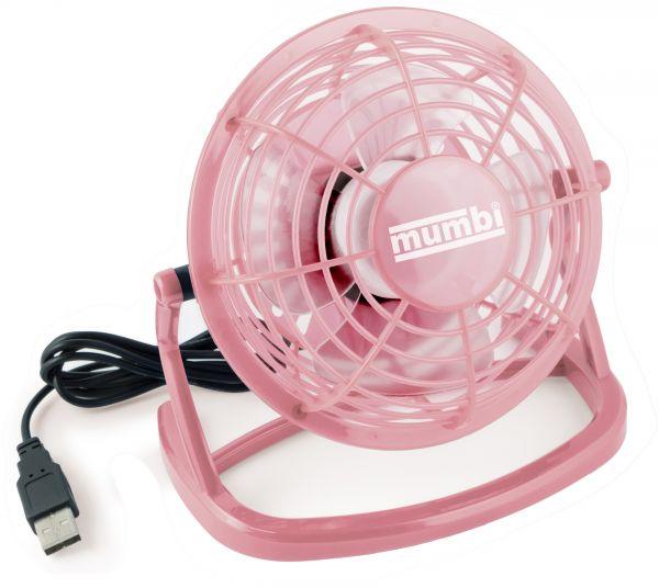 USB Ventilator mit An/Aus Schalter pink