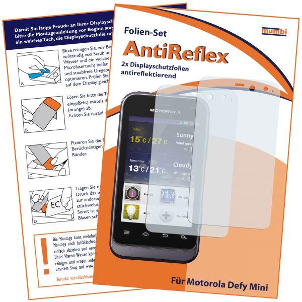 Displayschutzfolie 2 Stck. AntiReflex für Motorola Defy Mini