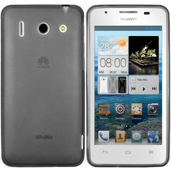 TPU Hülle transparent schwarz für Huawei Ascend G510