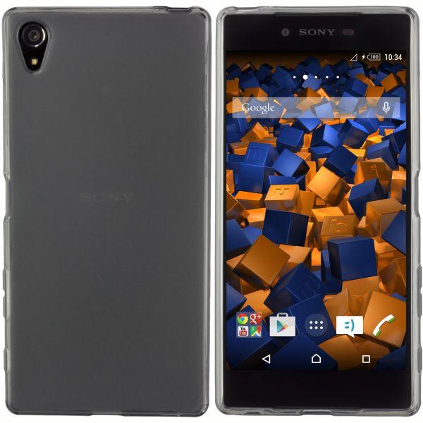 TPU Hülle schwarz transparent für Sony Xperia Z5 Premium
