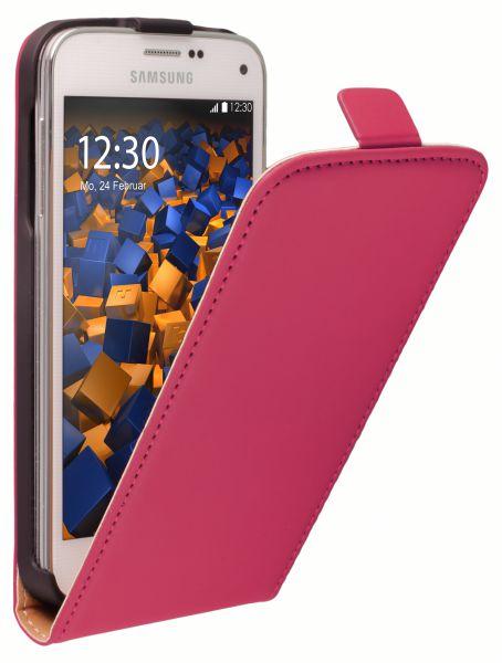 Flip Case Tasche pink für Samsung Galaxy S5 Mini