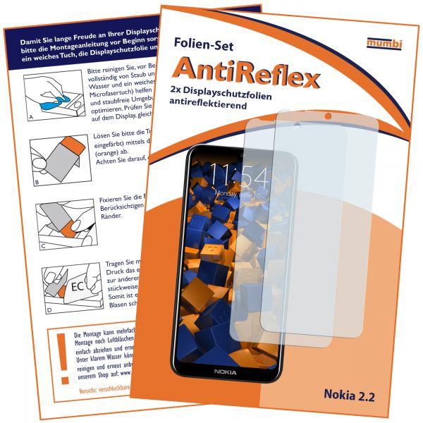 Displayschutzfolie 2 Stck. AntiReflex transparent für Nokia 2.2