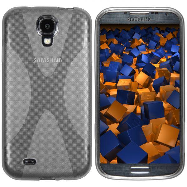 TPU Hülle X-Design schwarz transparent für Samsung Galaxy S4