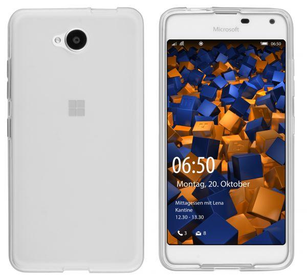 TPU Hülle weiß transparent für Microsoft Lumia 650