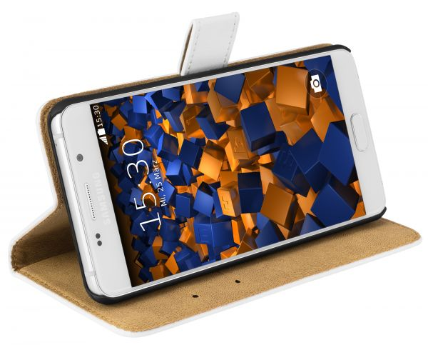 Bookstyle Ledertasche weiß für Samsung Galaxy A5 (2016)