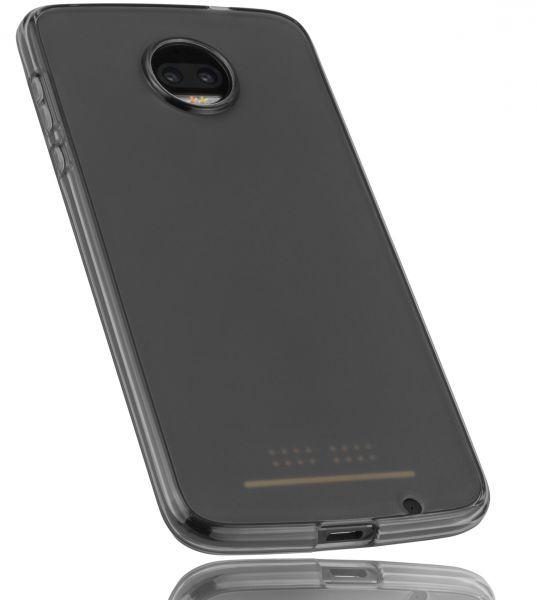 TPU Hülle schwarz transparent für Motorola Moto Z2 Force