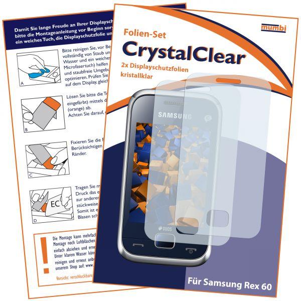 Displayschutzfolie 2 Stck. CrystalClear für Samsung Rex 60