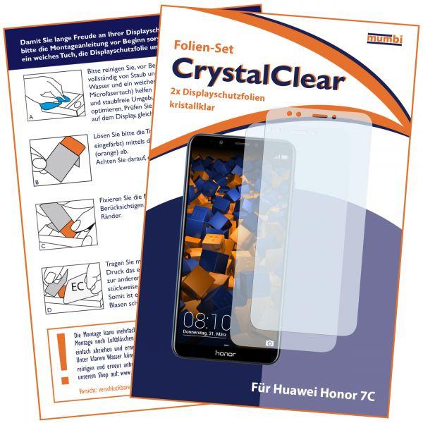Displayschutzfolie 2 Stck. CrystalClear für Huawei Honor 7C