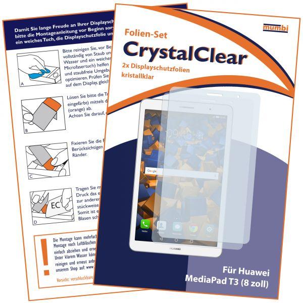 Displayschutzfolie 2 Stck. CrystalClear für Huawei MediaPad T3 8.0 Zoll