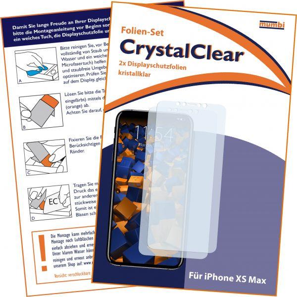 Displayschutzfolie 2 Stck. CrystalClear für Apple iPhone XS Max