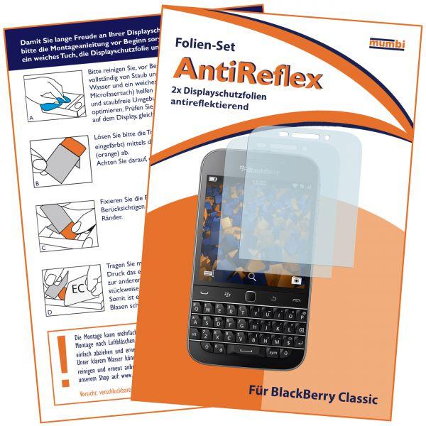 Displayschutzfolie 2 Stck. AntiReflex für Blackberry Classic
