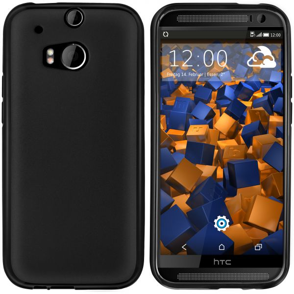 TPU Hülle schwarz für HTC One M8 / M8s