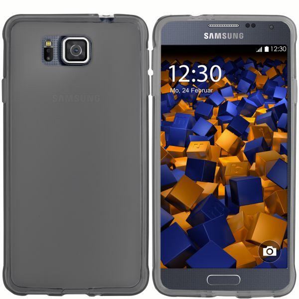 TPU Hülle transparent schwarz für Samsung Galaxy Alpha