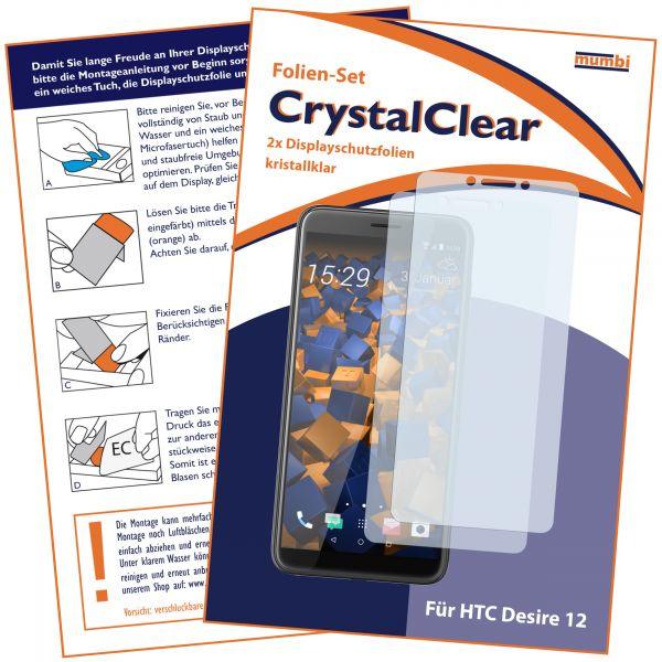 Displayschutzfolie 2 Stck. CrystalClear für HTC Desire 12