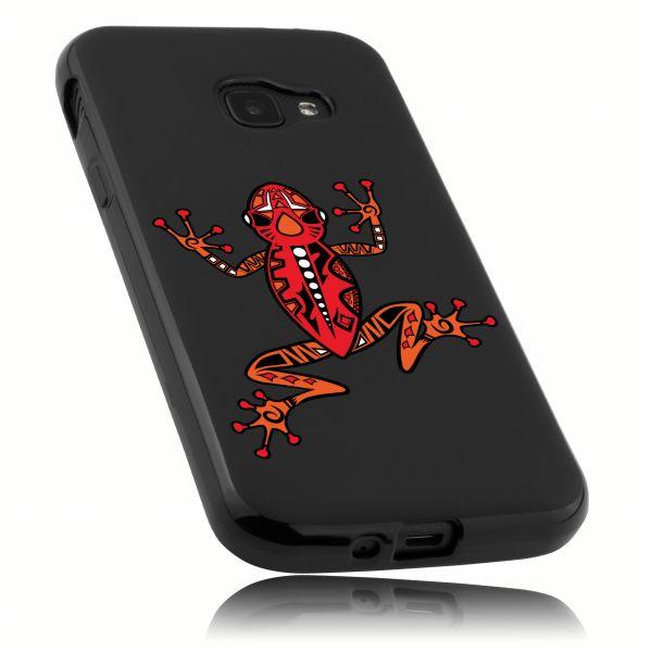 TPU Hülle schwarz Motiv Frosch für Samsung Galaxy Xcover 4 / 4s