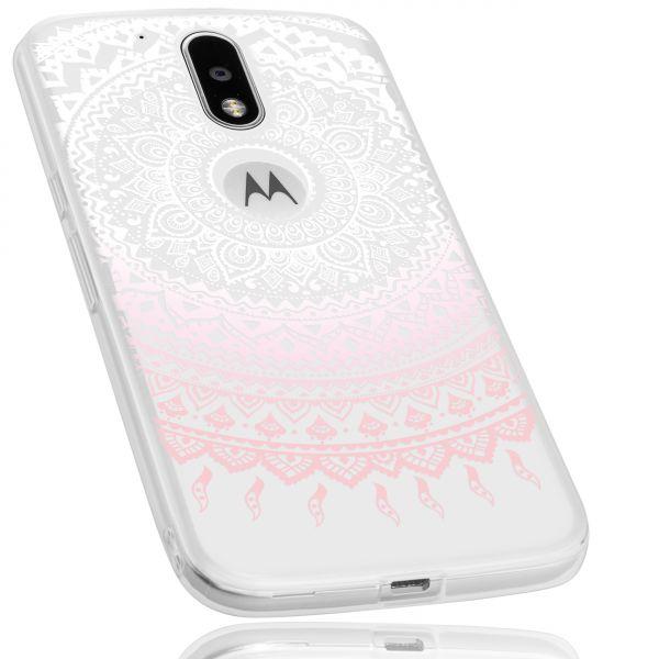 TPU Hülle rosa transparent Motiv Mandala für Motorola Moto G4 / Moto G4 Plus