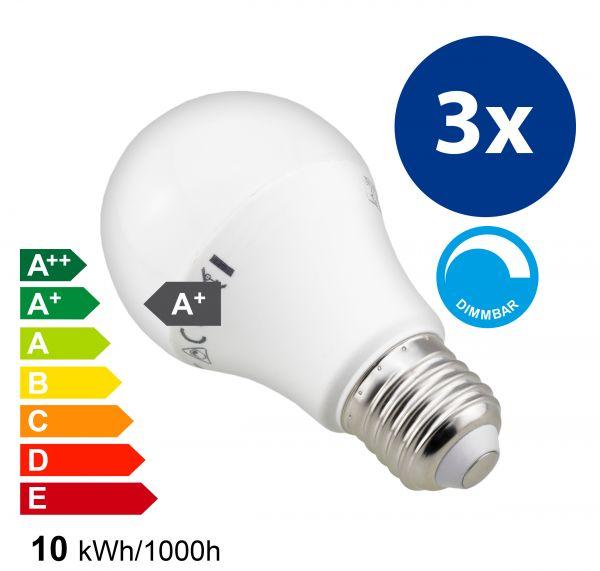 3x mumbi XQ-Lite LED-Lampe E27 10W dimmbar | mumbi Shop