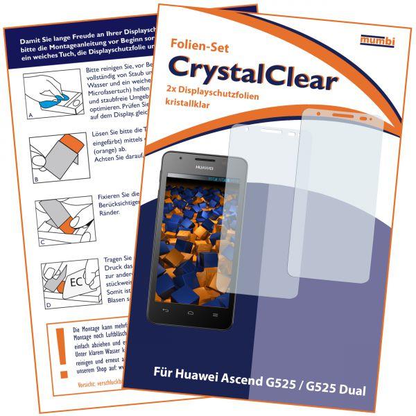 Displayschutzfolie 2 Stck. CrystalClear für Huawei Ascend G525 Dual