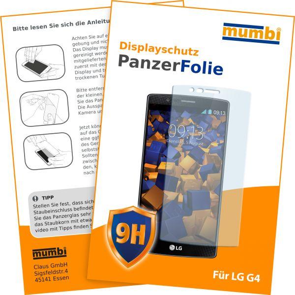 Panzerglasfolie Hartglas 9H für LG G4