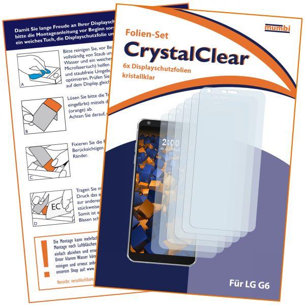 Displayschutzfolie 6 Stck. CrystalClear für LG G6