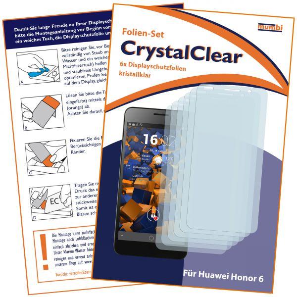 Displayschutzfolie 6 Stck. CrystalClear für Huawei Honor 6