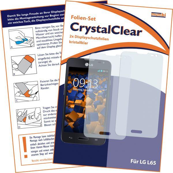 Displayschutzfolie 2 Stck. CrystalClear für LG L65